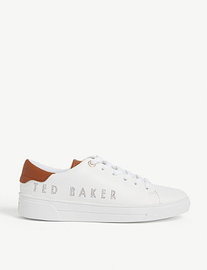TED BAKER Kerrie branded leather trainers