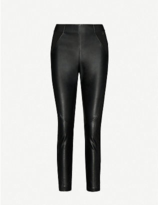 TED BAKER: Kloriis faux-leather leggings