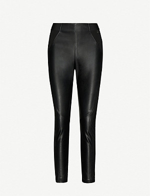 TED BAKER Kloriis faux-leather leggings