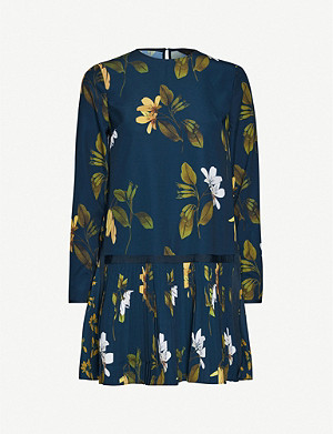 TED BAKER Denees floral-print crepe mini dress