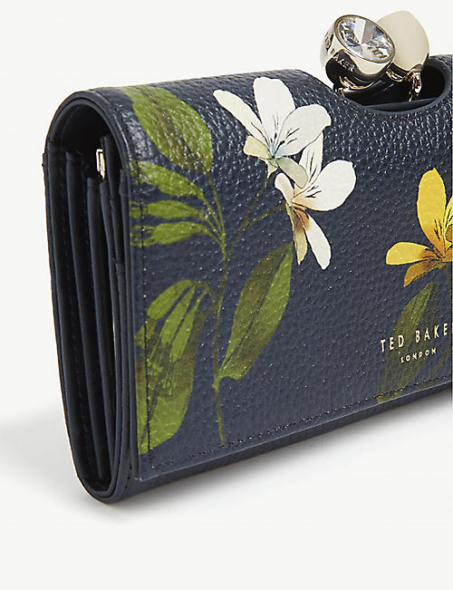 TED BAKER Abbeyy floral leather purse