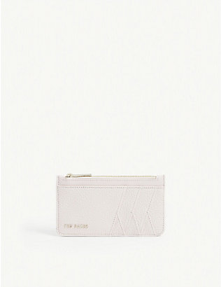 TED BAKER: Allexxa leather card holder