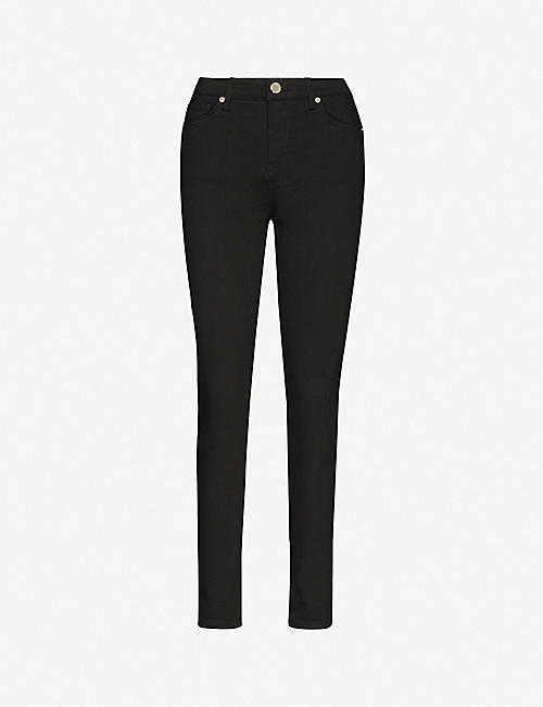 TED BAKER: High-rise stretch-denim jeans