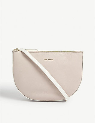 TED BAKER: Gabrini double pouch leather crossbody bag