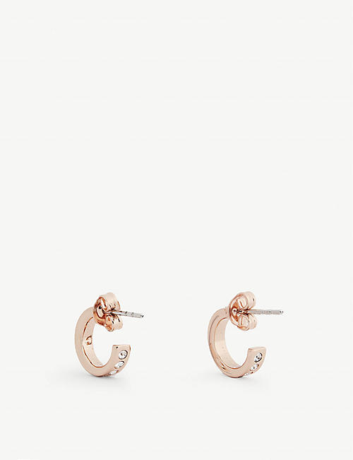 TED BAKER Seeni mini hoop huggie earrings