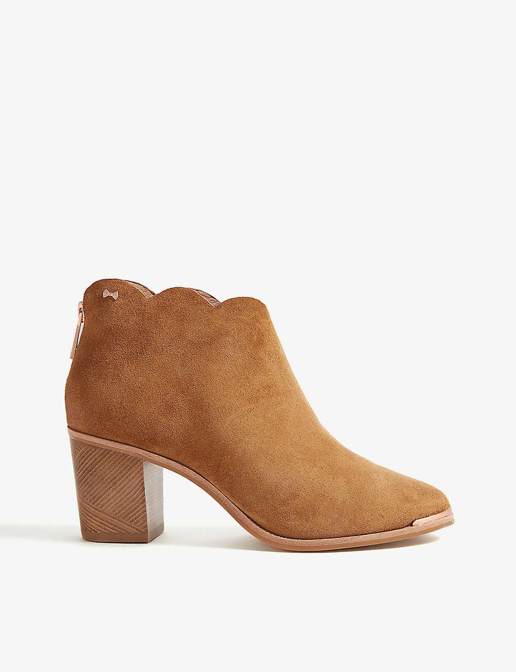 0f882ac6b TED BAKER - Joanie suede heeled ankle boots | Selfridges.com