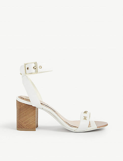 Sandals Baker Heeled Ted Leather Biah qVzLSMpUG