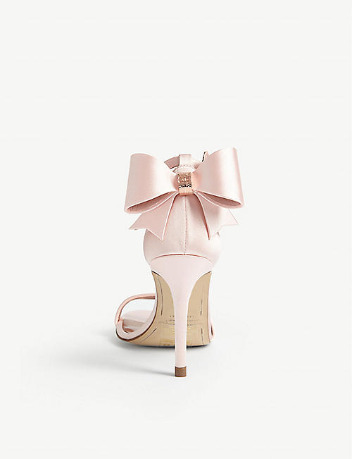 TED BAKER Bowtifl bow heeled satin sandals