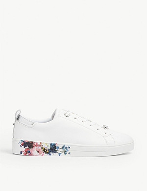 TED BAKER Floral printed sole tennis trainer