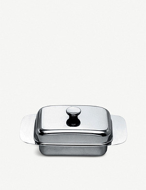 ALESSI Stainless steel butter dish and lid