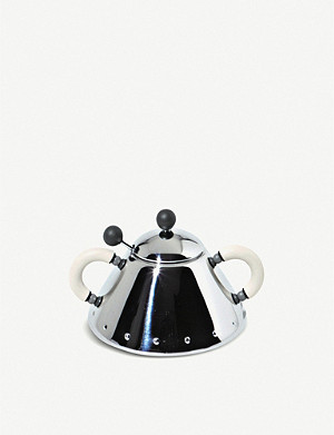 ALESSI Stainless steel sugar bowl and spoon set