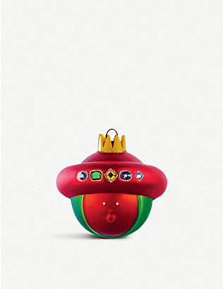 ALESSI: Baldassarre King glass Christmas bauble