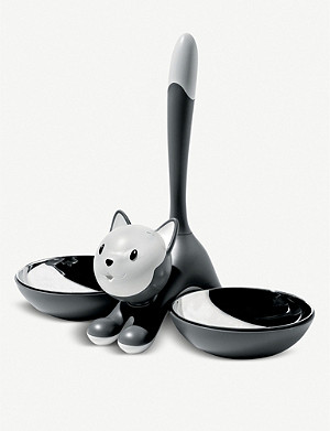 ALESSI Tigrito stainless-steel cat bowl 28cm