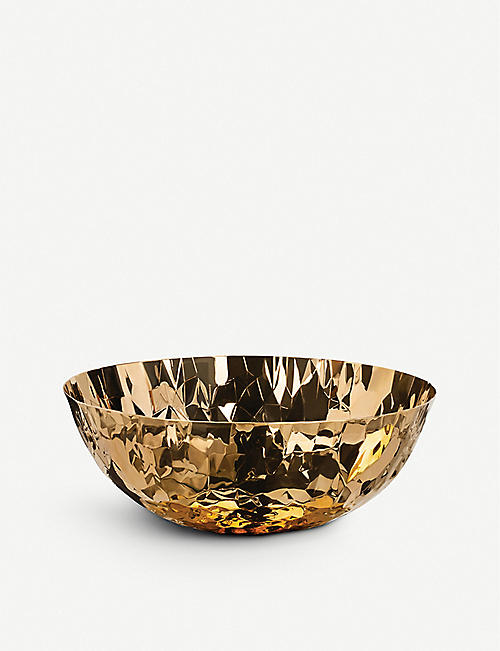 ALESSI Joy round 24ct gold-plated basket 30cm
