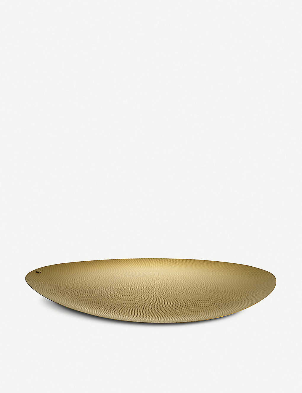 ALESSI: Colombina brass small serving plate 34cm