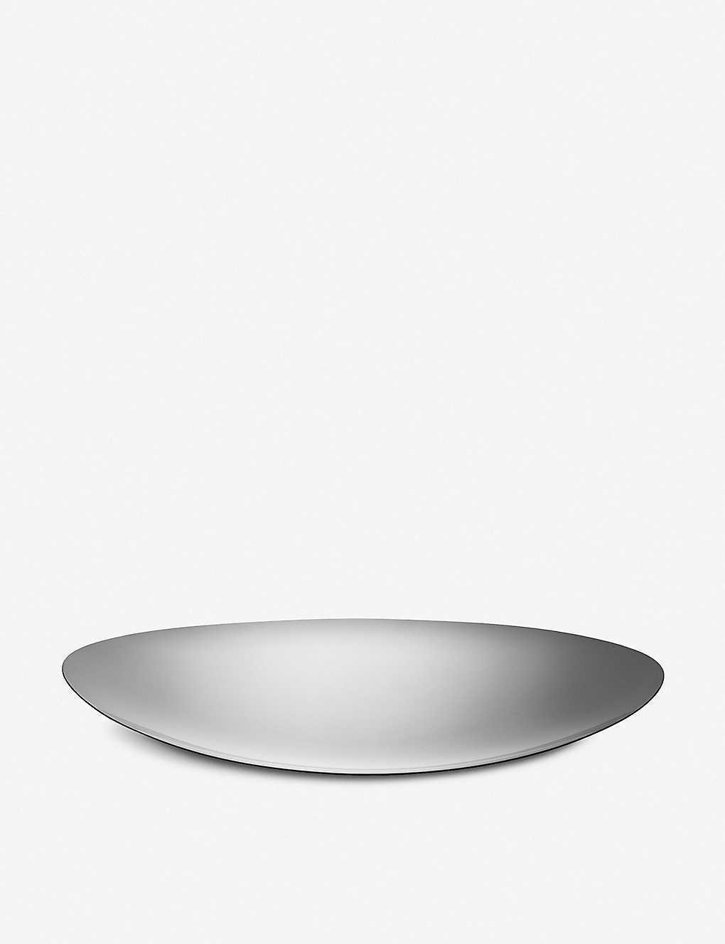 ALESSI: Colombina stainless steel small serving plate 34cm