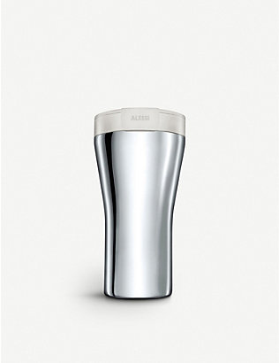 ALESSI: Caffa stainless steel reusable coffee cup 400ml