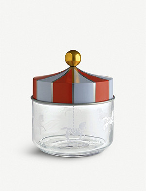 ALESSI Circus glass jar 13cm