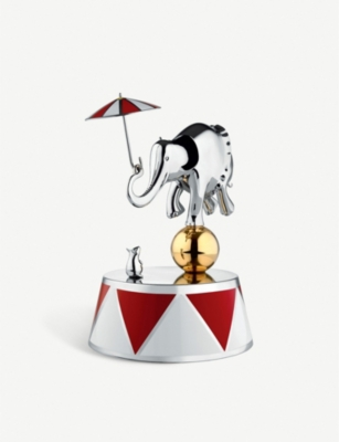 ALESSI Ballerina stainless steel musical box