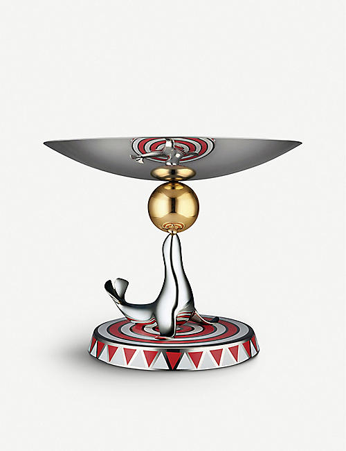 ALESSI: The Seal stainless steel cake stand