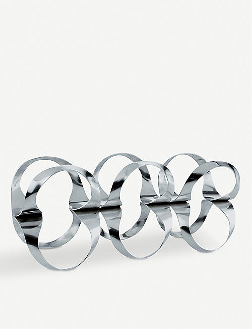 ALESSI: Ribbon stainless steel bottle rack