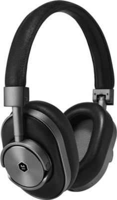 MASTER AND DYNAMIC MW60 wireless over-ear stainless steel and leather headphones