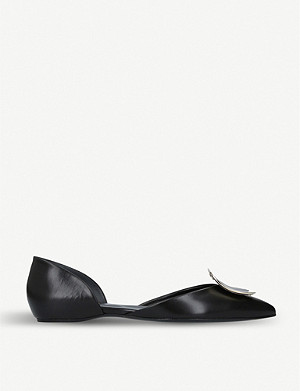 ROGER VIVIER D'Orsay Choc leather ballerina flats