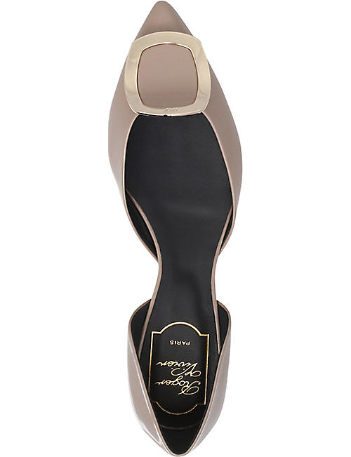 ROGER VIVIER Dorsay patent-leather flats