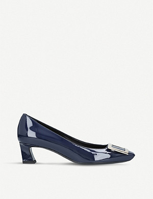 ROGER VIVIER Trompette patent leather courts