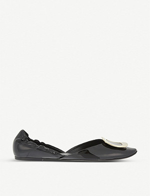 ROGER VIVIER Chips patent leather ballerina flats