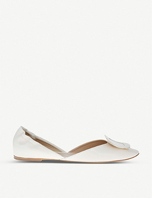 ROGER VIVIER Chips leather ballerina flats