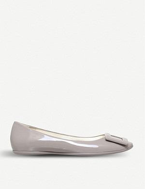 ROGER VIVIER Gommette slip-on patent-leather ballet flats