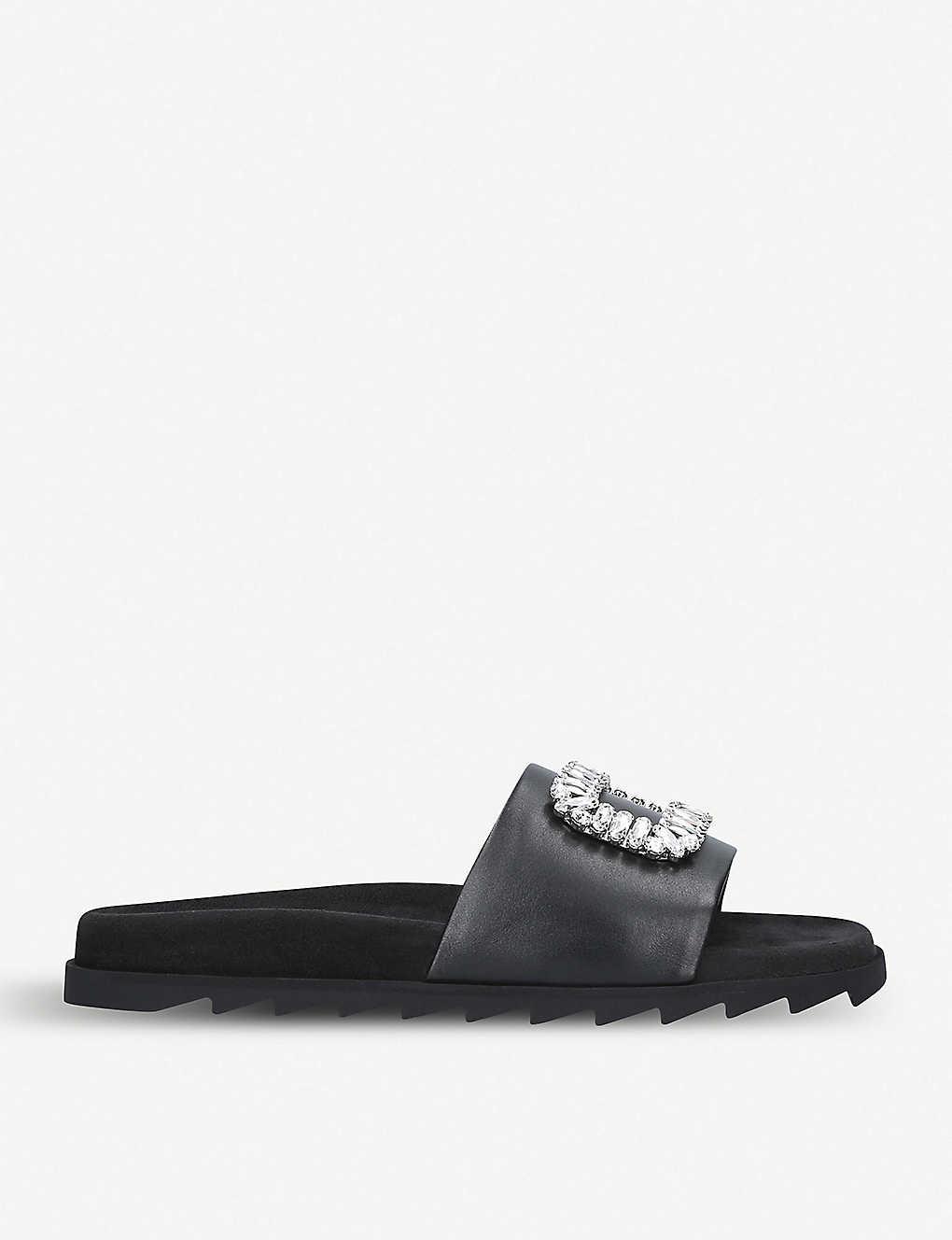 Roger Vivier Slippers Strass brooch-embellished leather sliders