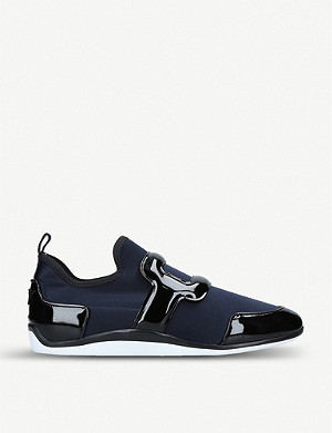 ROGER VIVIER Sporty Viv scuba and leather trainers