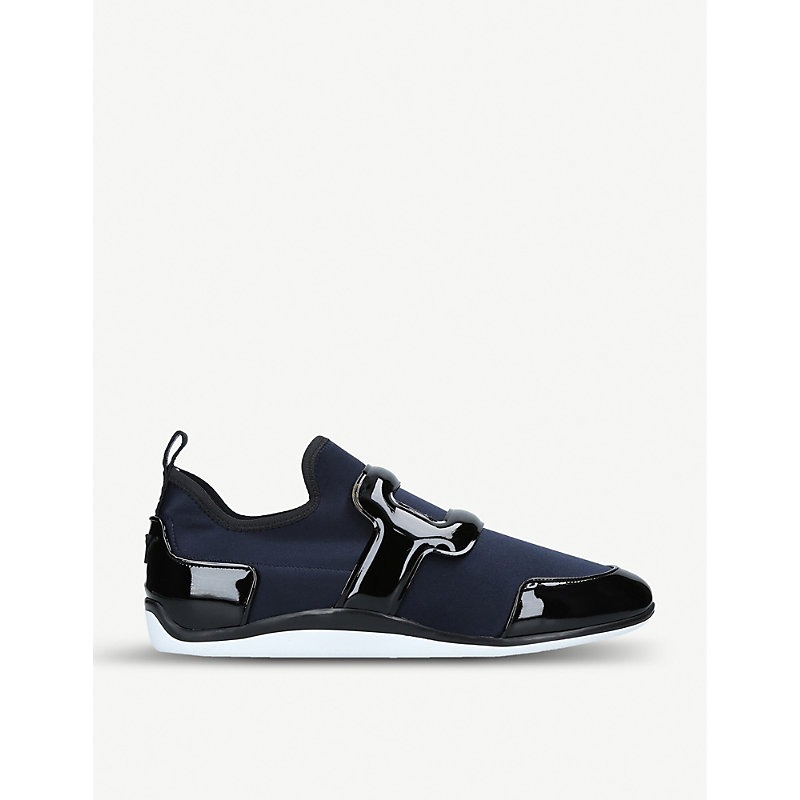ROGER VIVIER | Sporty Viv Scuba And Leather Trainers | Goxip