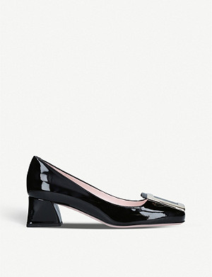 ROGER VIVIER Belle Vivier patent-leather courts