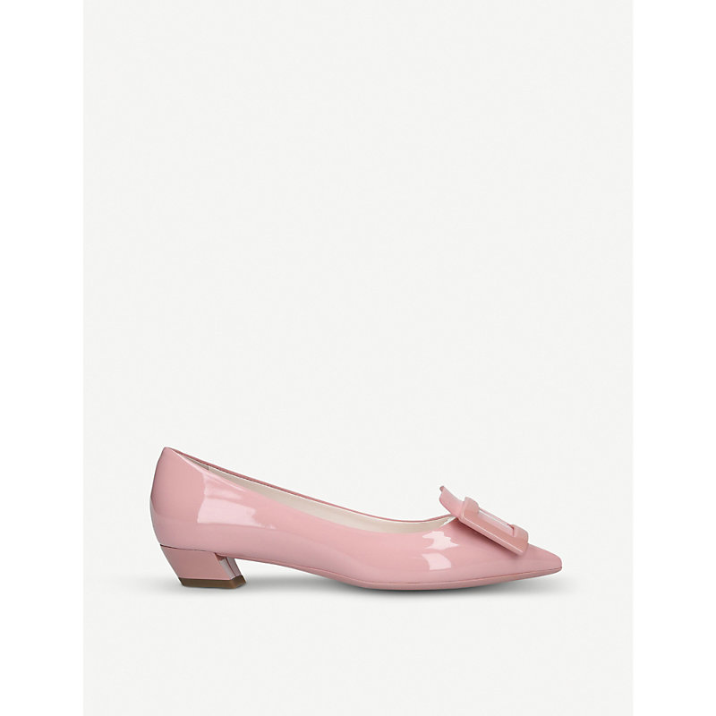 ROGER VIVIER | Gomette Buckle Patent Leather Courts | Goxip