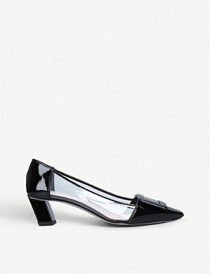 ROGER VIVIER Belle Vivier patent leather and PVC courts