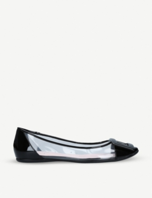 ROGER VIVIER Gommette slip-on leather and PVS ballet flats