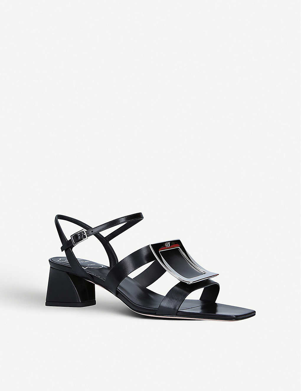 ROGER VIVIER: Bikiviv buckle-embellished heeled leather sandals