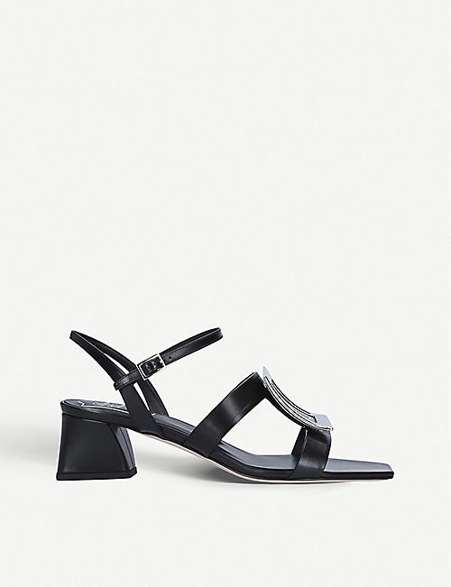 ROGER VIVIER Bikiviv buckle-embellished heeled leather sandals