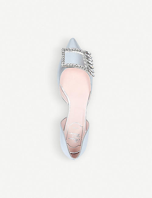 ROGER VIVIER Dorsay metallic patent-leather flats