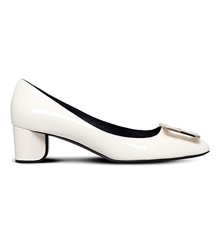 da93c063ce ROGER VIVIER Decollete u t45 patent-leather heeled pumps (Winter+wht