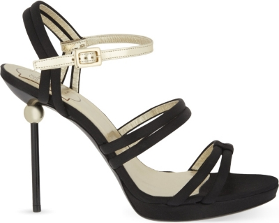 Office Shoes Spaghetti Straps Heeled