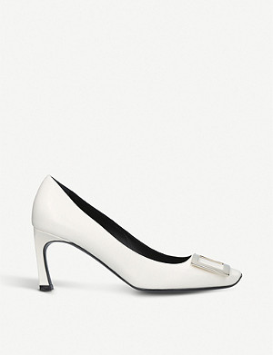 ROGER VIVIER Belle Vivier trompette leather courts