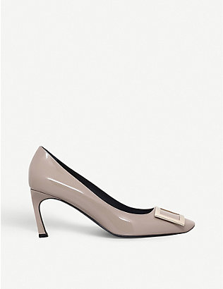ROGER VIVIER: Belle Vivier Trompette patent-leather courts