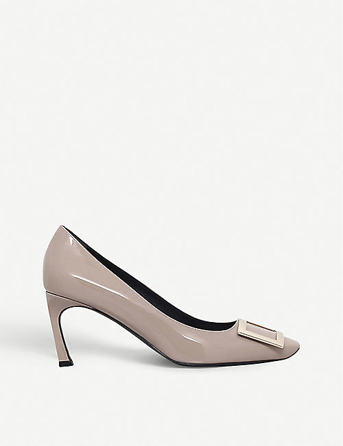 ROGER VIVIER Belle Vivier Trompette patent-leather courts