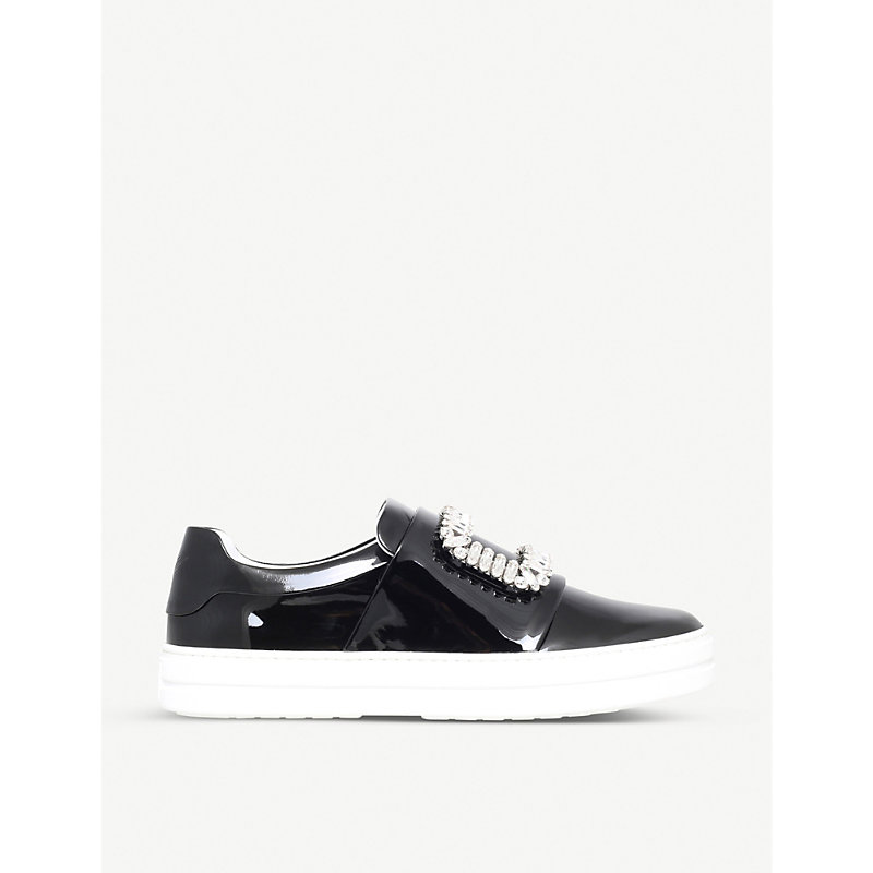 ROGER VIVIER | Sneaky Viv Leather Trainers | Goxip
