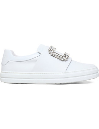 ROGER VIVIER: Sneaky Viv leather trainers