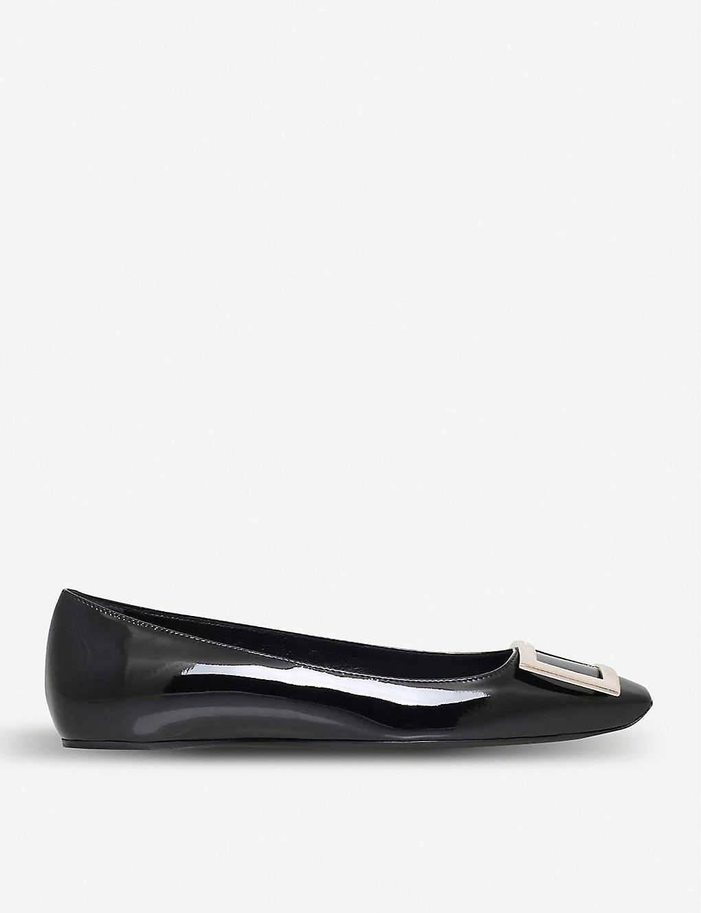 1d49dfac54ea0 ROGER VIVIER - Trompette patent-leather ballet flats | Selfridges.com